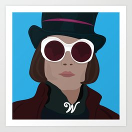 willy wonka Art Print