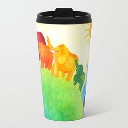 Elephant Rainbow Travel Mug