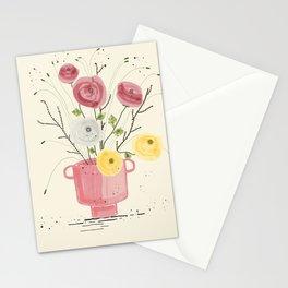 Ranunculus flowers in vase  Stationery Cards