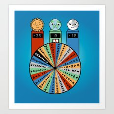 WHEEL OF MISFORTUNE Art Print