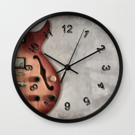 Guitar (colour) Wall Clock