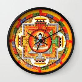 Buddhist Healing Mandala Wall Clock