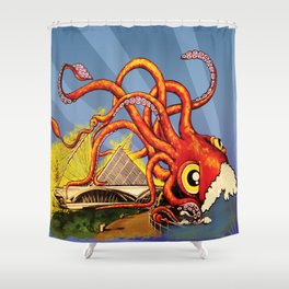 MILWAUKEE: What's Kraken, Milwaukee? Shower Curtain