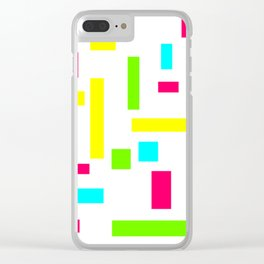 Abstract Theo van Doesburg Composition Neon on White Clear iPhone Case