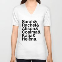 orphan black V-neck T-shirts featuring Orphan Black by Elanor Jarque