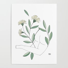 Flower lounging Poster