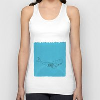 the whale Tank Tops featuring Whale by David Penela