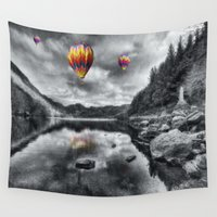 aviation Wall Tapestries featuring Above The Lake by Ian Mitchell