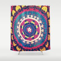 tapestry Shower Curtains featuring Tapestry by lizzy gray kitchens