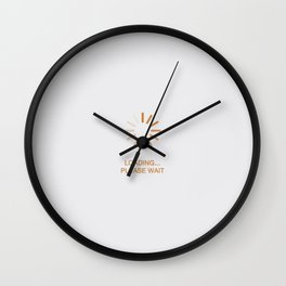 Loading...please wait Wall Clock