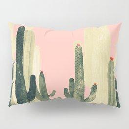 pink growing cactus Pillow Sham