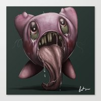 kirby Canvas Prints featuring Kirby  by Nogland