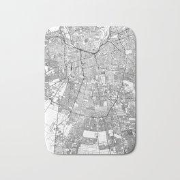 Santiago White Map Bath Mat