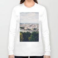 budapest Long Sleeve T-shirts featuring Budapest Pano by Johnny Frazer