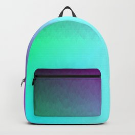 Rainbow ombre flames Backpack