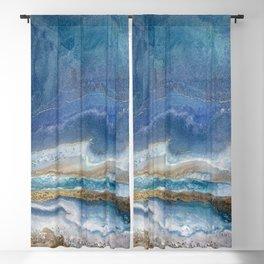Ocean Blue Resin by Corina Bakke Blackout Curtain