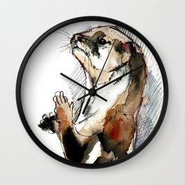 Amblonyx cinereus otter Wall Clock