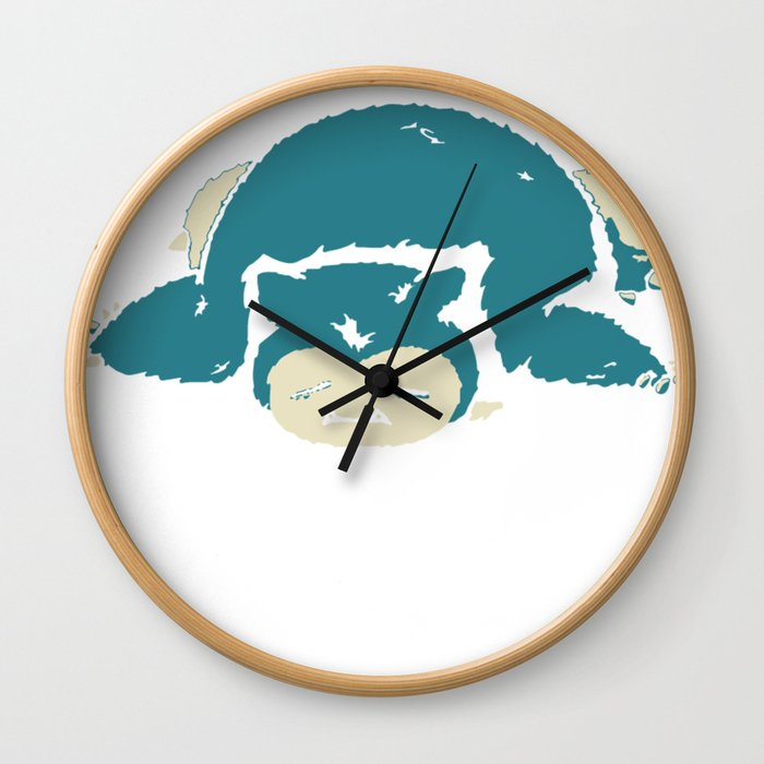 I Hate The Mornings Wall Clock