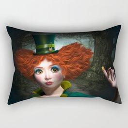 Madam Hatmaker Rectangular Pillow