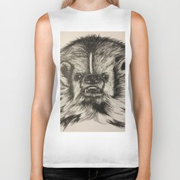 Badger Bad Original b/w ink Biker Tank