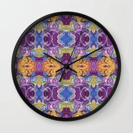 Florid Oasis Wall Clock