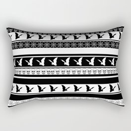 Halloween on Christmas - Black and White Rectangular Pillow