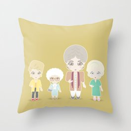Girls in their Golden Years Throw Pillow