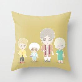 Girls in their Golden Years Throw Pillow