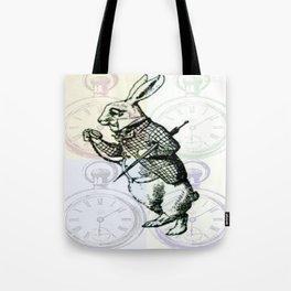 White Rabbit Time Tote Bag
