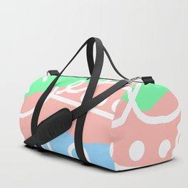 Crashing Waves - White Green Blue Duffle Bag