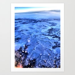 Flight over Mountians Art Print