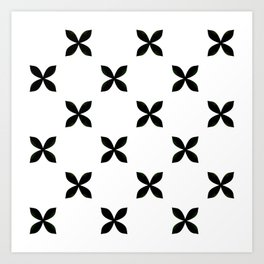 Pattern in Black and White Art Print