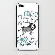 COURAGE: PRIDE AND PREJUDICE by JANE AUSTEN iPhone & iPod Skin