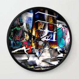 Bowery Graffiti Wall Clock