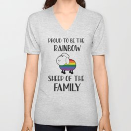 Proud To Be The Rainbow Sheep Of The Family Quote Unisex V-Neck