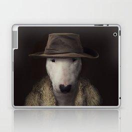 Bullterrier in the hat Laptop & iPad Skin
