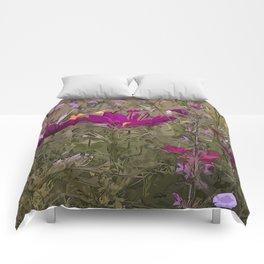 Wild Flowerbed 3 Comforters