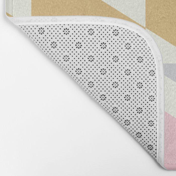 Colorful Diagonals Bath Mat