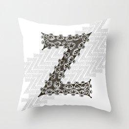 Color Me Z Throw Pillow