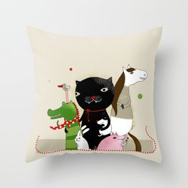United Animals Throw Pillow