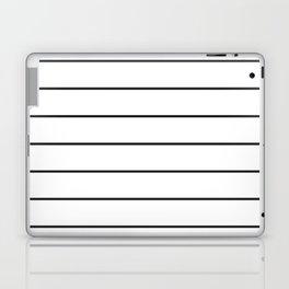 SKINNY STRIPE ((black on white)) Laptop & iPad Skin