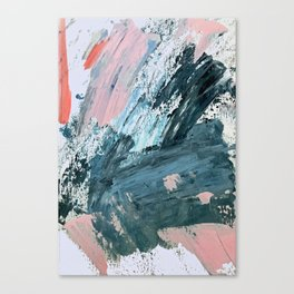 Wilmington: a colorful abstract acrylic piece in pinks and blues Canvas Print