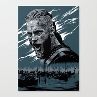 vikings Canvas Prints featuring Vikings by Lionel Charpentier