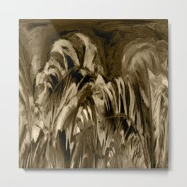 Unique Brown Abstract Metal Print