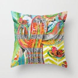 Saturday Morning Saguaro Throw Pillow