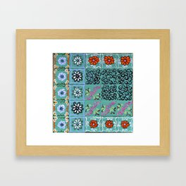 """""""Country Patchwork (iv)"""" by ICA PAVON Framed Art Print"""