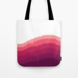 Layered Forest Hills - Purple to Pink Tote Bag