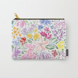 Floral Overflow Carry-All Pouch