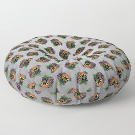 Boxer in Fawn - Day of the Dead Sugar Skull Dog Floor Pillow