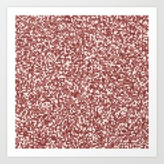 Pixel Hash / Digital Mince / Cubistic Hamburger Meat Art Print